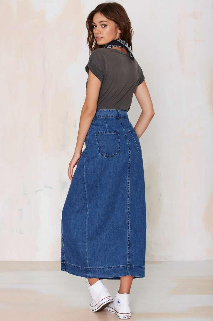 С чем носить джинсовую юбку: рекомендации стилистов (более 80 фото)