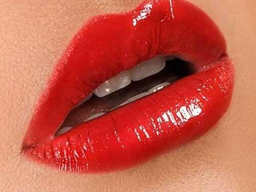Как красить губы красной помадой правильно