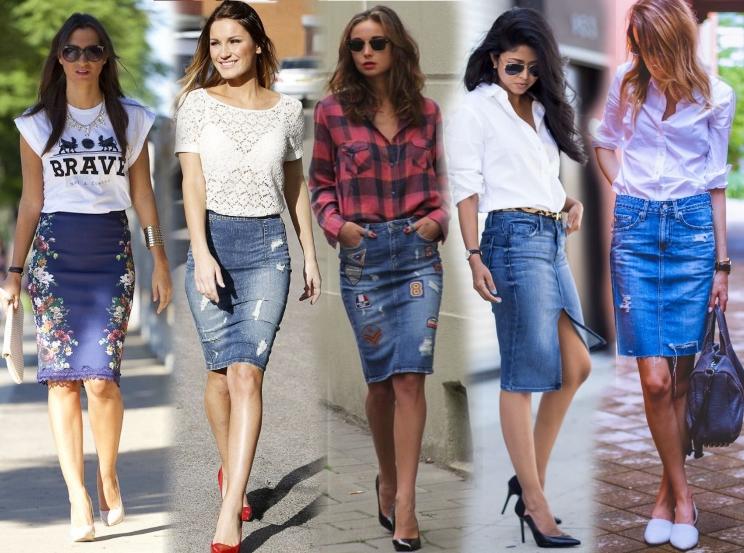 С чем носить джинсовую юбку 2021-2022?