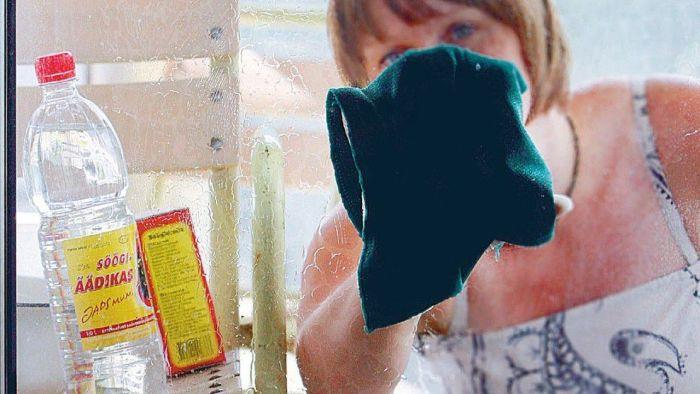 как помыть окно народными способами