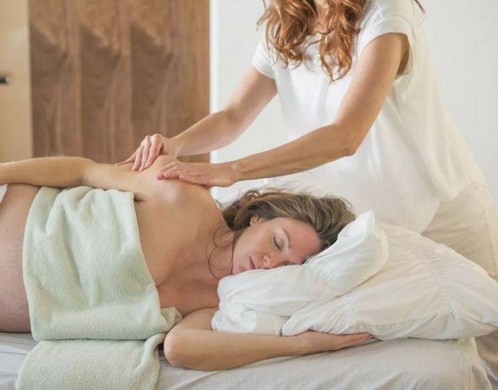 можно делать массаж во время беременности