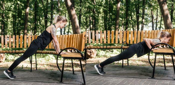 гимнастика на улице